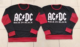 Jual Online Sweater ACDC Black Maroon Murah Jakarta Bahan Babytery Terbaru