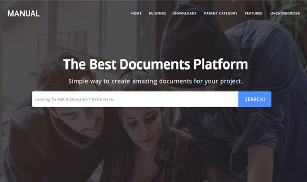 manual blogger template