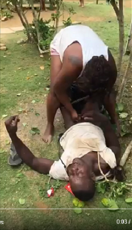 Video: Shocking Moment where a Lady Tries to Rape a Man
