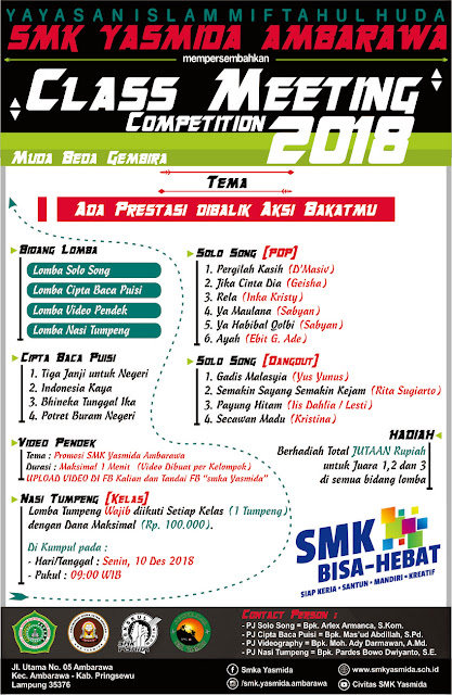 Design Pamflat Class Meeting SMK Yasmida Ambarawa