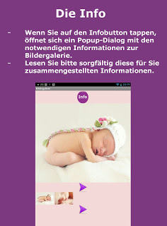 Babyentwicklung Android App - Infobutton