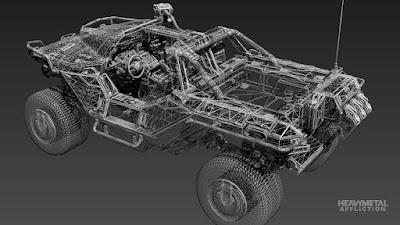 Halo Warthog truck 3D render