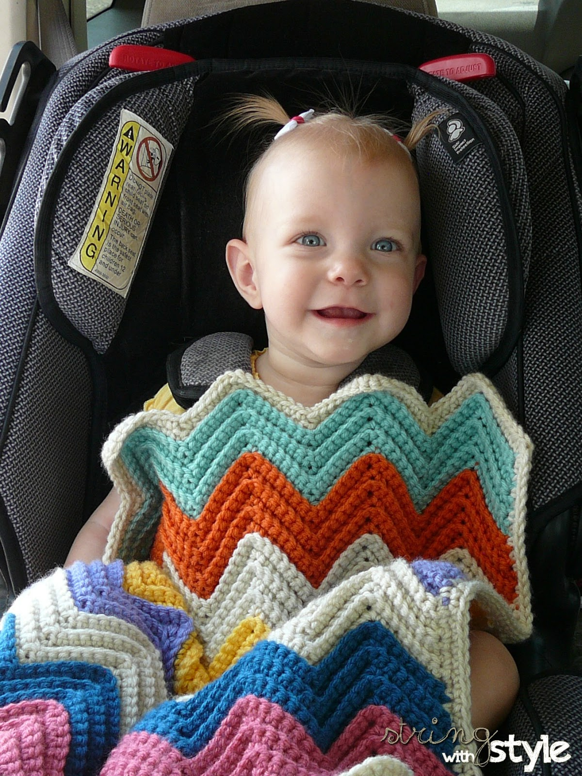 String With Style Chevron Love Car Seat Blanket
