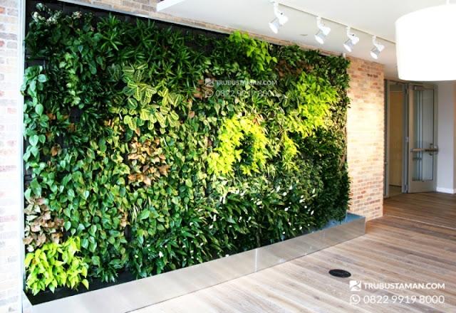 taman vertikal garden bahan sintetis