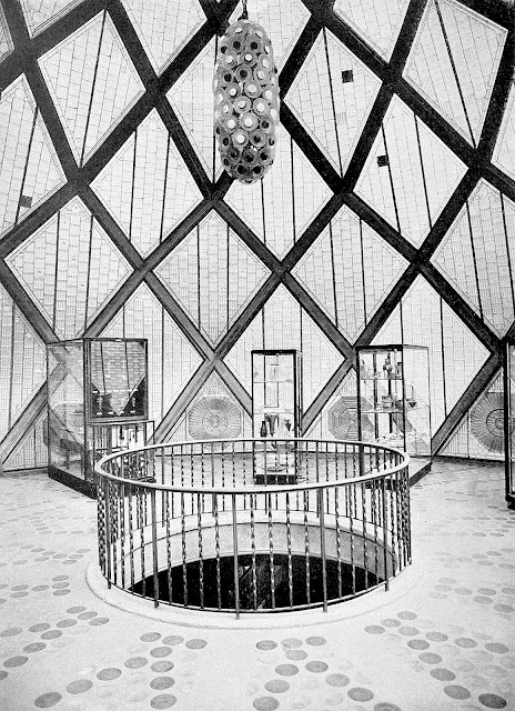BRUNO TAUT GLASHOUSE 1914 photograph of upper interior