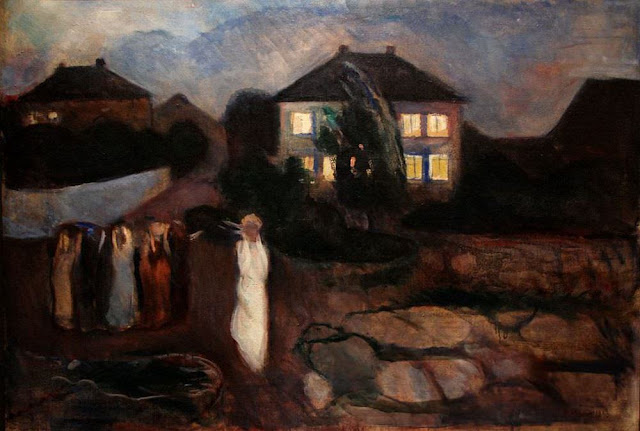 Oil painting from 1893 by Norwegian artist Munch