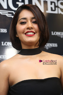 Actress Raashi Khanna Pictures in Black Dress at Longines Watches Launch  0057.JPG