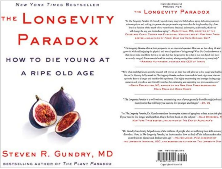 Steven R Gundry's Book: The Science of Anti-Aging - Nutrition and Well-being - Harper Wave