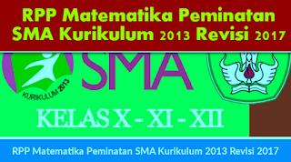 RPP Matematika Peminatan SMA Kurikulum 2013 Revisi 2019