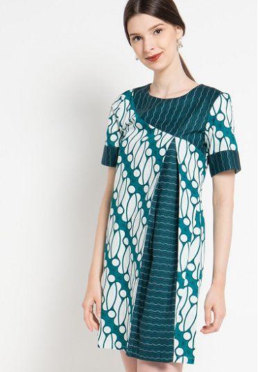 35 Model Dress Batik Modern Masa Kini 2019 Terbaru Model
