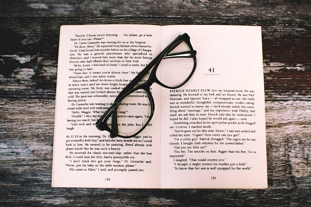 Spectacles on Book, Reading Skill - Image: Lisa Fotios - Pexels