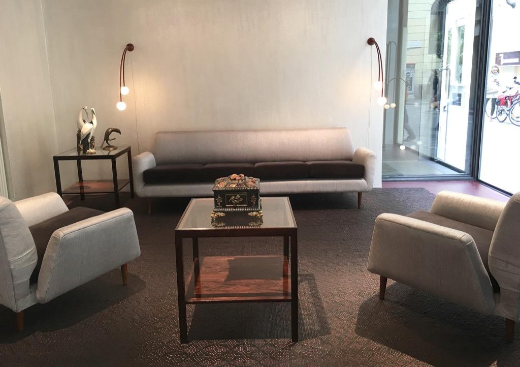 "fake leather sofa upholstery bettsofa schweiz contessanally: milano #mdw2017 – ""three piece lounge ..."