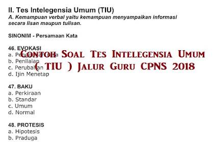 Prediksi Soal Tes Intelegensia Umum ( TIU ) Jalur Guru CPNS 2021