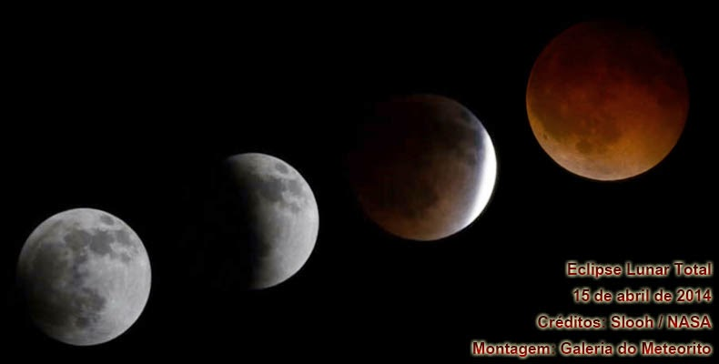 Foto Eclipse Lunar Total Lua de Sangue 15 de abril de 2014