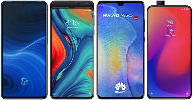 Realme X2 Pro 64 GB vs Xiaomi Mi Mix 3 5G vs Huawei Mate 20 vs Xiaomi Mi 9T Pro