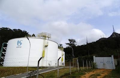Reservatórios e Adutora do Parque Anhanguera, de propriedade da Sabesp, localizados no alto do morro na Vila Homero