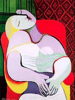 Le Rêve (El Sueño) de Pablo Picasso, cubismo, óleo sobre lienzo, 1932