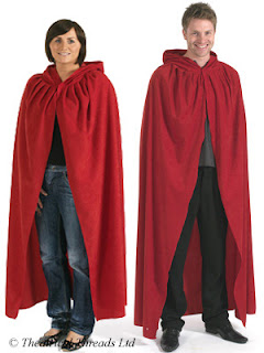 Hooded fancy dress cloaks for World Book Day from Theatrical Threads Ltd
