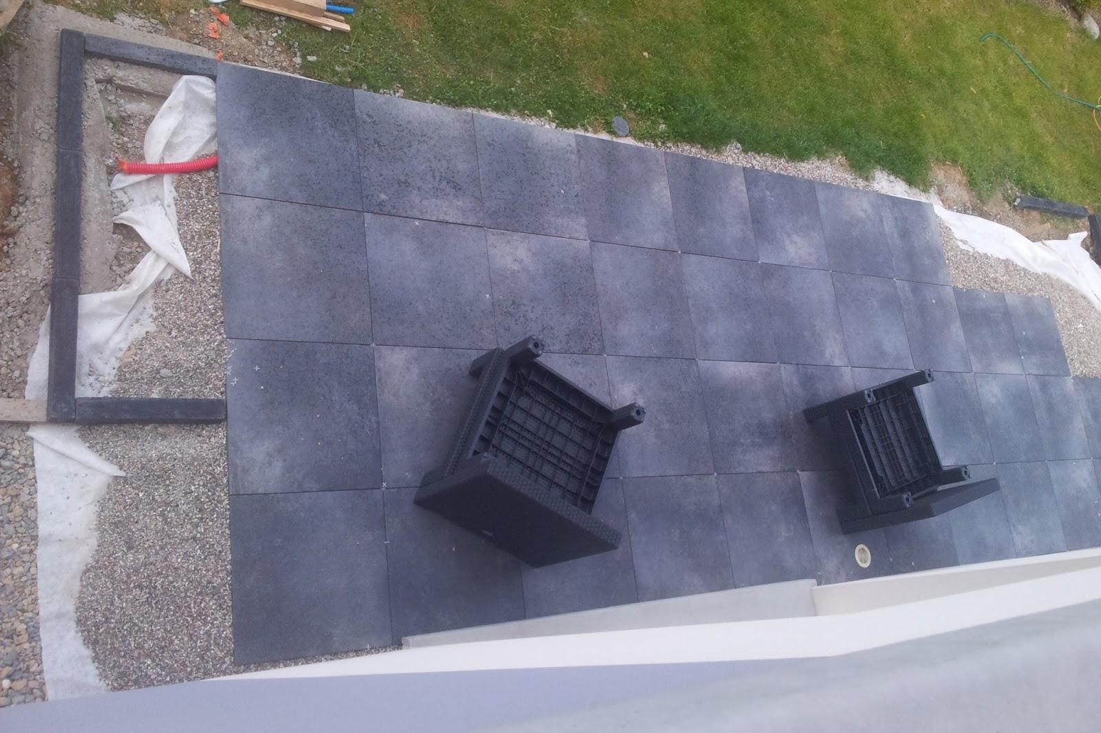 Bricolage de l 39 id e la r alisation terrasse design for Ceramique exterieur sur beton