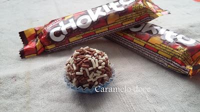 Brigadeiro de chokito Caramelo doce