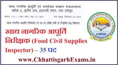chhattisgarh-food-civil-supplies-inspector-recruitment-2017 Sullabus