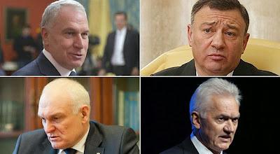 Os macro-oligarcas saíram da KGB ou da nada.  Critério unificador: fidelidade de escravo  ao cidadão supremo da nova-URSS