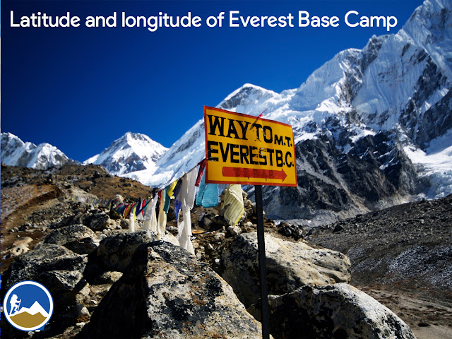 Longtitude and latitude of Everest Base Camp