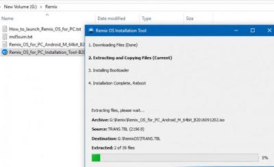 Cara Instal Remix Os Dual Boot Android Dan Windows 3