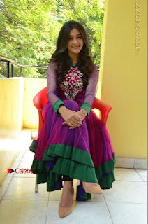 Actress Pooja Jhaveri Latest Stills in Purple Salwar Kameezt at Dwaraka Success Meet  0228.JPG