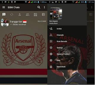 Download BBM v3.2.0.6 Themes Arsenal Apk Terbaru