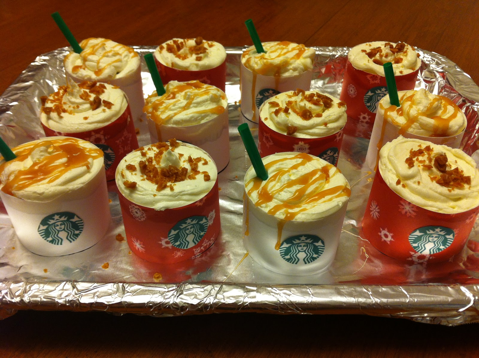 Cooking With Jax Starbucks Theme Cupcakes Caramel Brulee