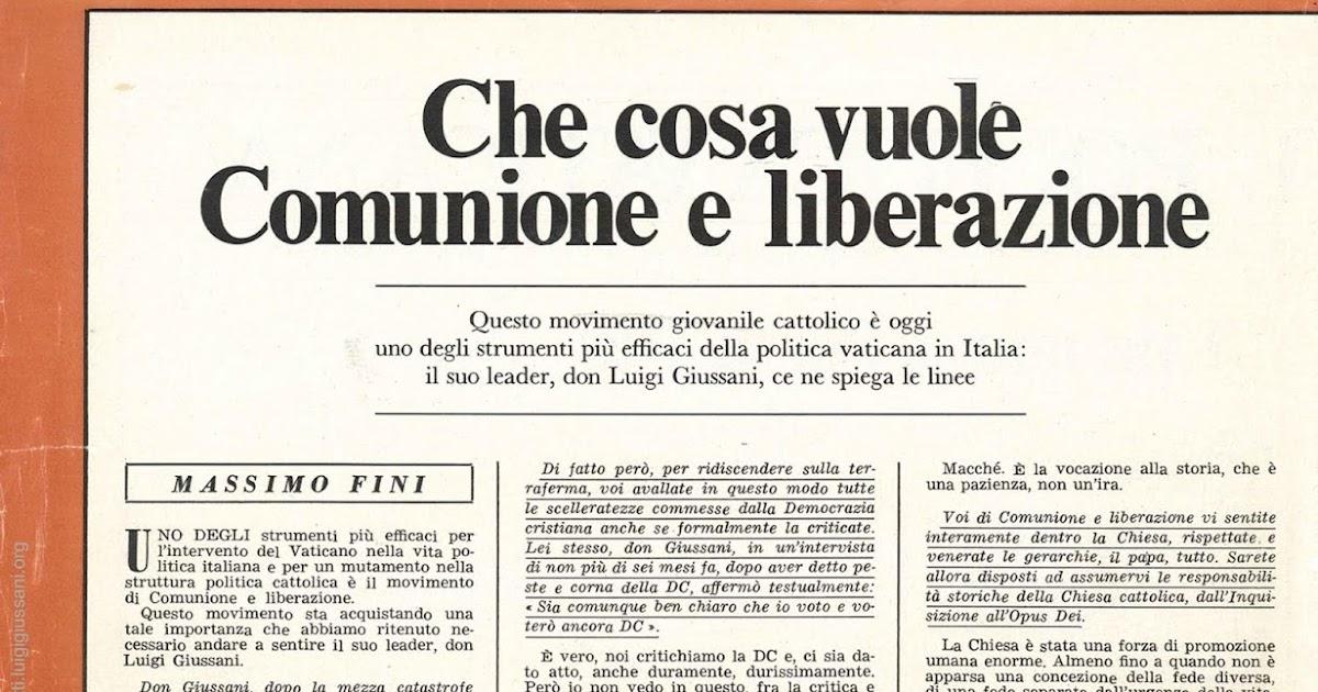 La baionetta come eravamo che cosa vuole comunione e for Struttura politica italiana