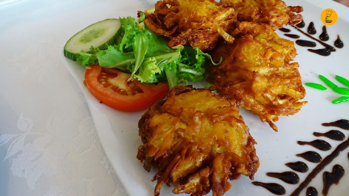 Onion bhaji en Shampan Indian Madrid