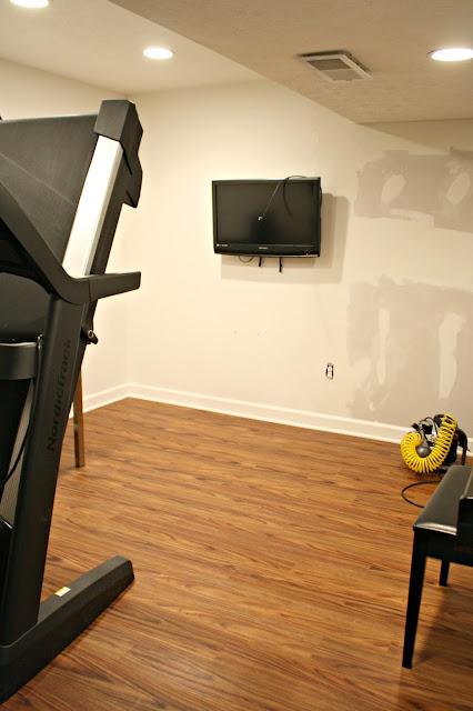 vinyl flooring in basement