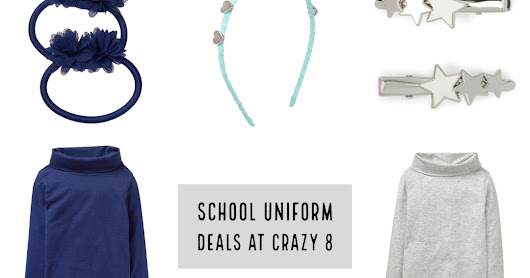 Free Shipping at Crazy 8 + Girls Uniform Deals