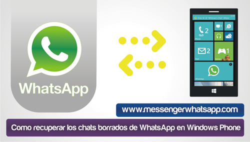 Como recuperar los chats borrados de WhatsApp en Windows Phone