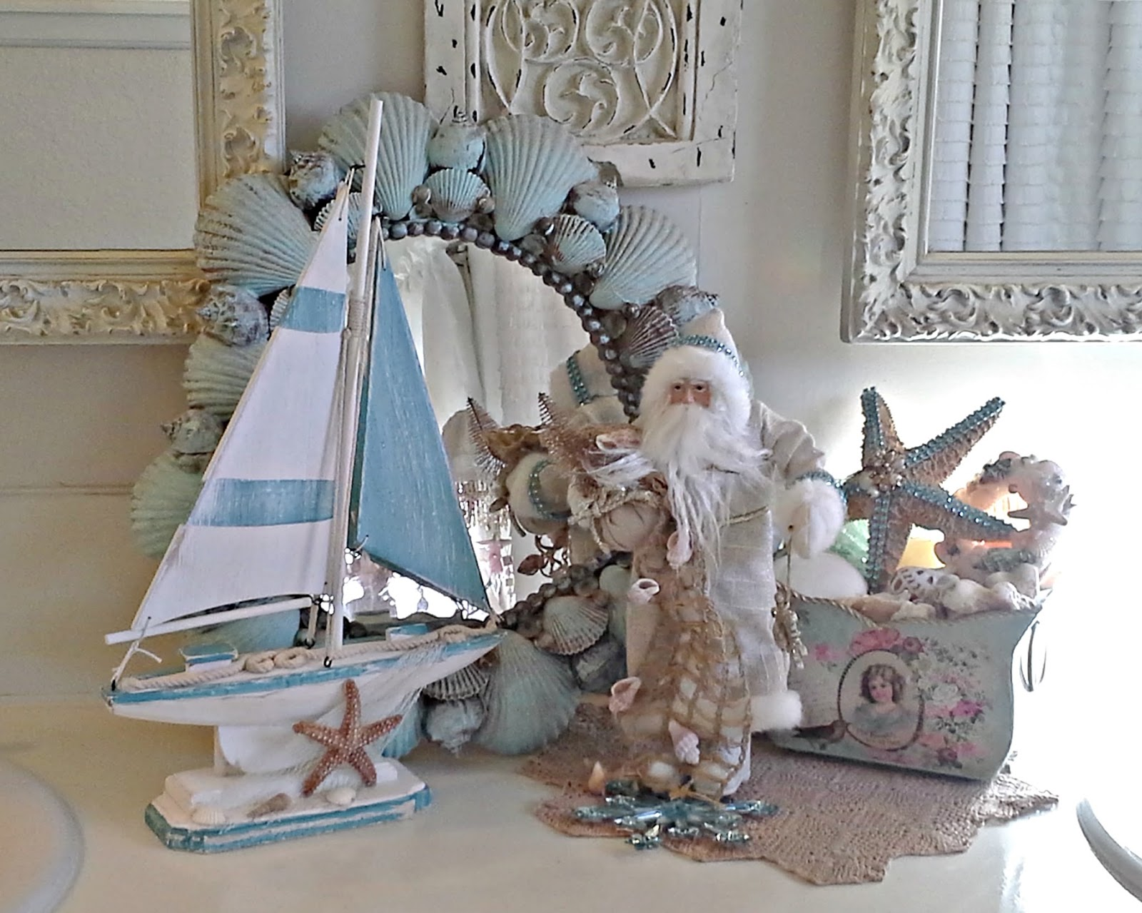penny 39 s vintage home coastal christmas decor. Black Bedroom Furniture Sets. Home Design Ideas
