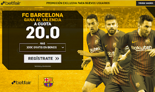 betfair supercuota victoria del Barcelona al Valencia 26 noviembre