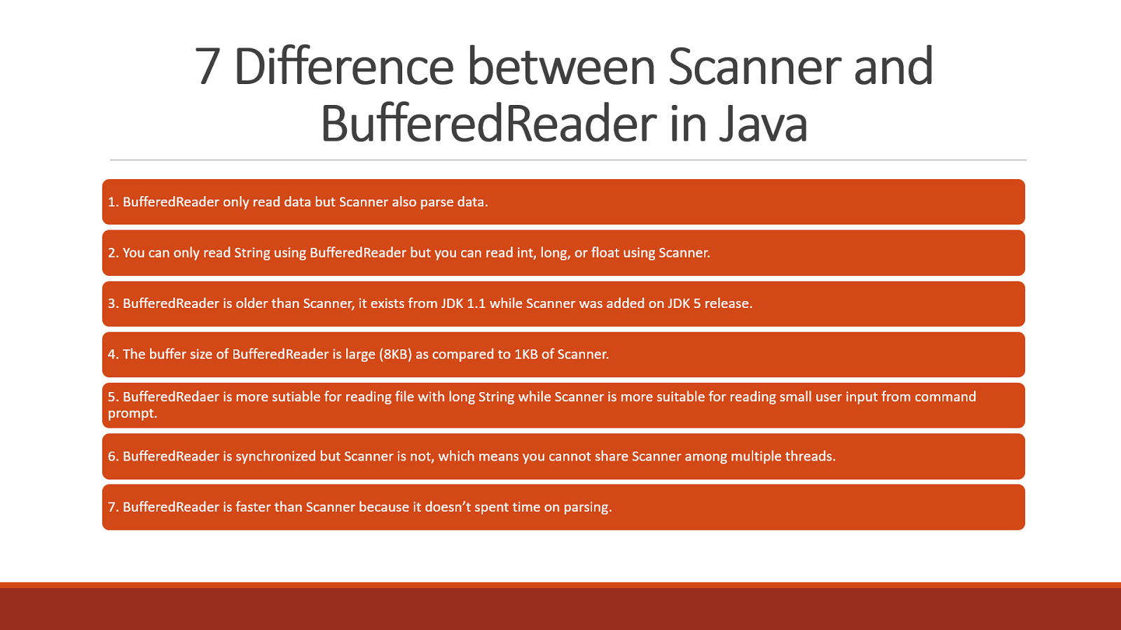 5 Difference Between Bufferedreader And Scanner Class In Java File