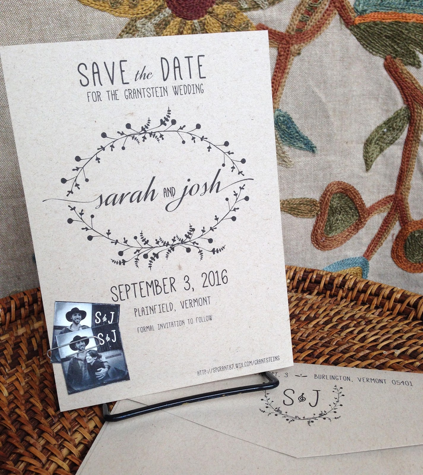 Kim Grant Ink Such Boho Wedding Invitations Vermont Style