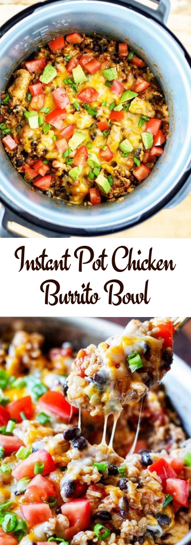 Instant Pot Chicken Burrito Bowl #healthy #recipe