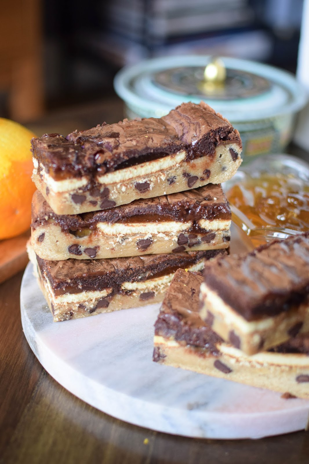 Chocolate Orange Jaffa Cake Slutty Brownies