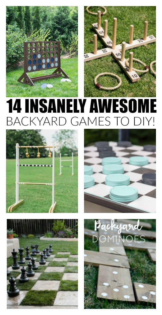 insanely awesome and fun DIY backyard games