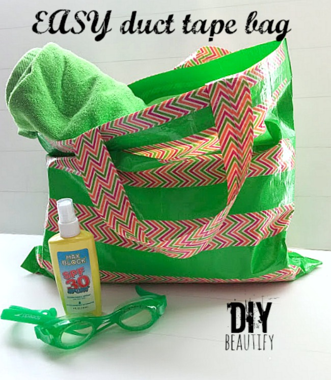 easy DIY duct tape beach bag DIY beautify