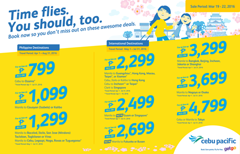 Cheap Flights Cebu Pacific Air Promo 2016
