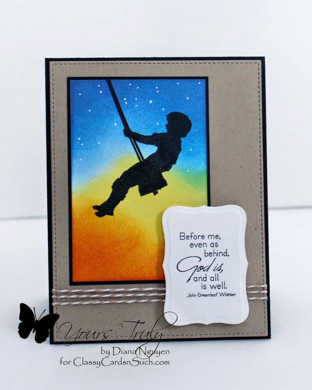 Diana Nguyen, Sweet and Sassy Stamps, God is, masculine card, Classy Cards n Such