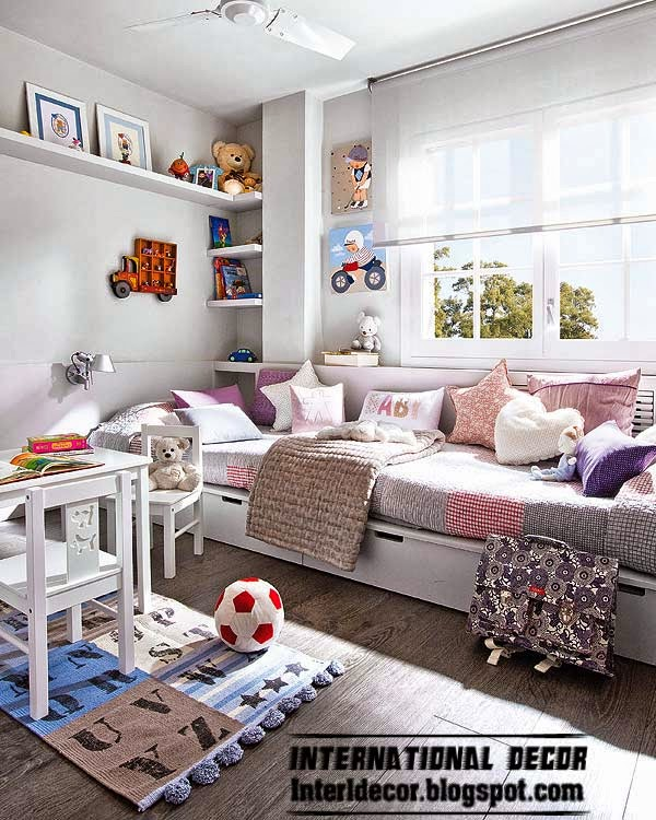 Purple Kids Room: Modern House In Purple And Grey Interior Design