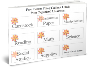 Want your own FREE filing cabinet labels?