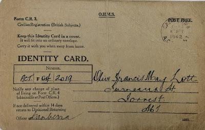 Olive Lott's Identity Card