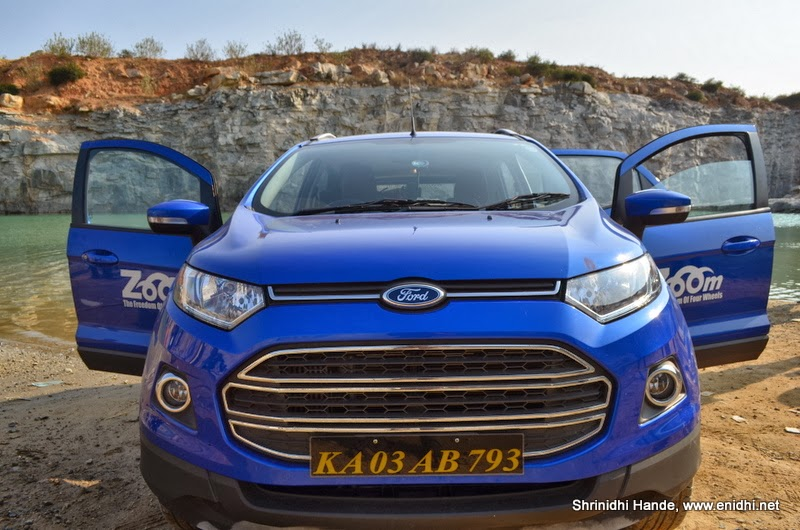Review Ford Ecosport Titanium From Zoom Cars Enidhi India Travel Blog